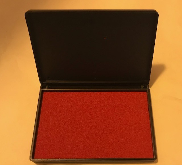 Stamp Pad, Red