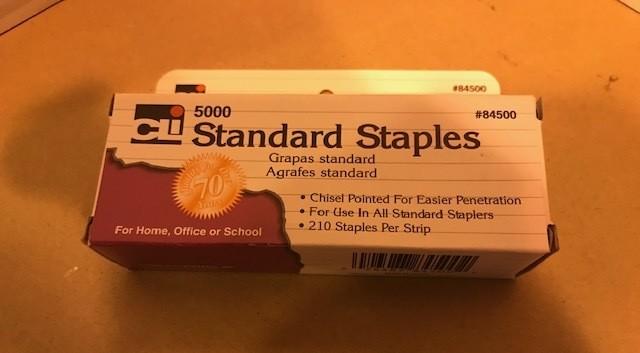 Staples, standard, chisel