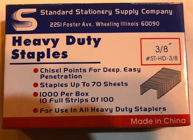 "STAPLES #13, 3/8"" LONG 10"