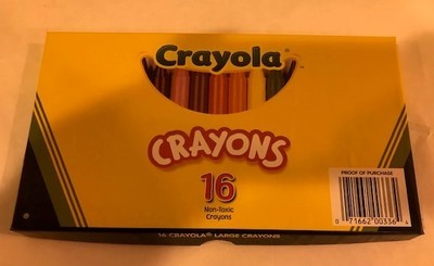 Crayons, large wax, 16 c