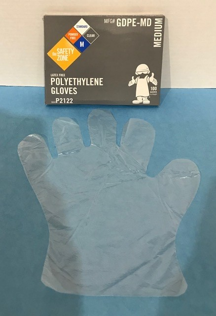 GLOVES, THIN PLASTIC BARRIER, WRIST LENGTH - PK (INSTRUCTIONAL USE)
