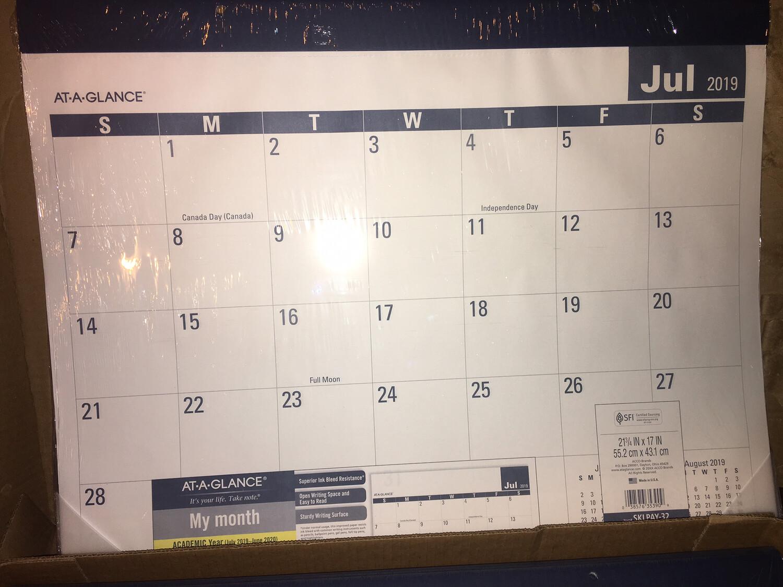 Calendar, Desk Pad,JUL-JU