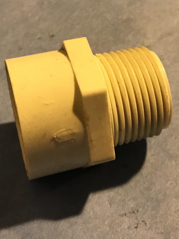 "ADAPTER 3/4"" MIP PVC SCHE"