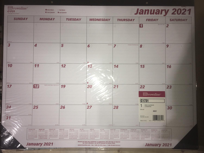 Calendar, Desk Pad, Jan-D