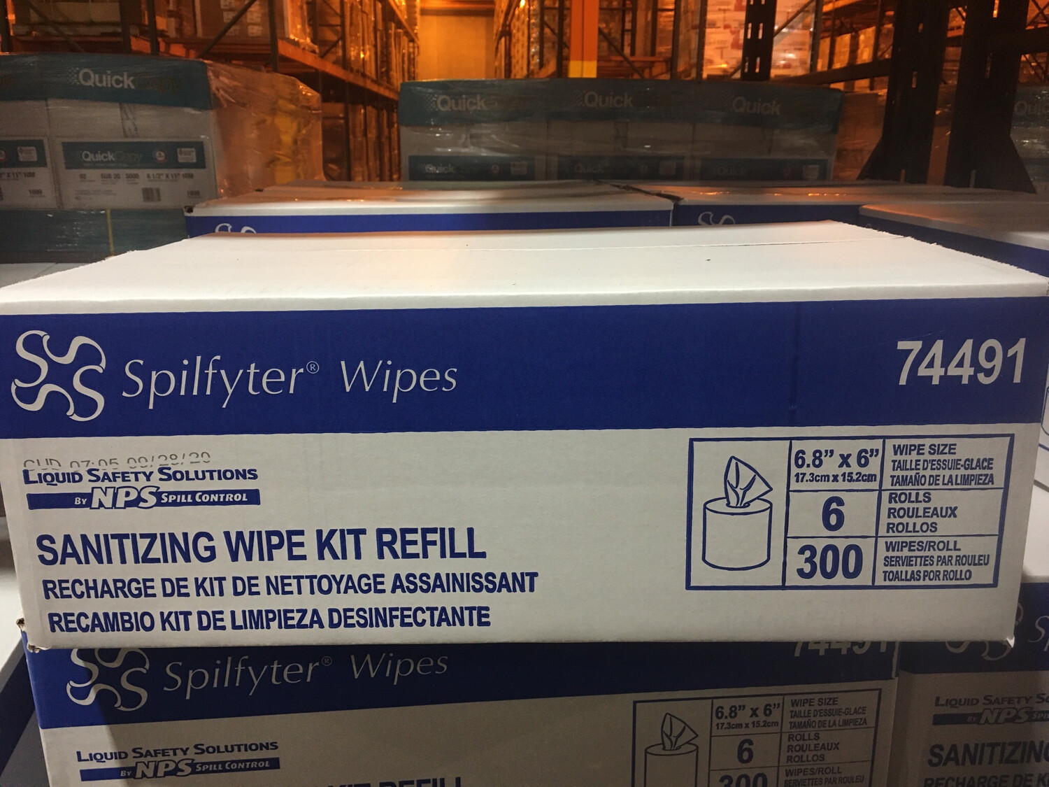 Wipes, refills for Spilfy