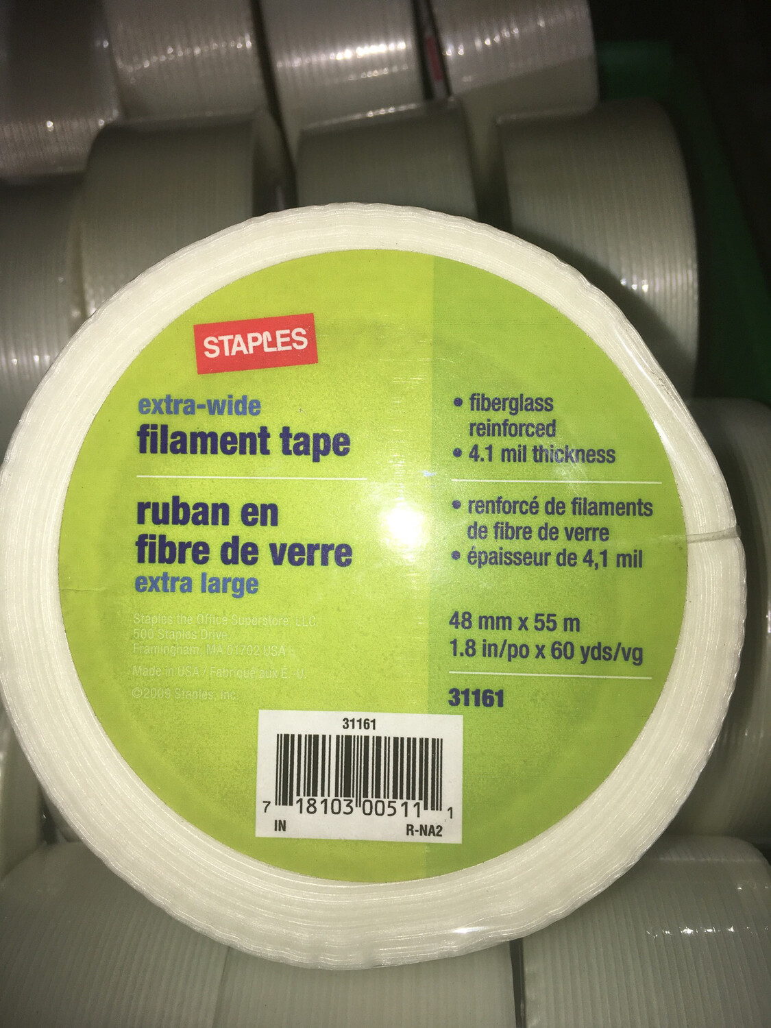 """TAPE, 0.9""""  FILAMENT DONATED"""