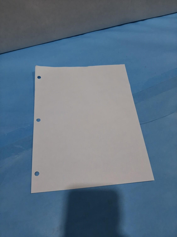 Paper, 3Hole, White Lette
