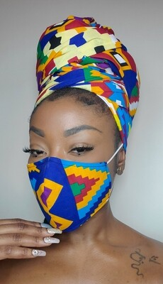 Vibrant (Headwrap & Mask Set)