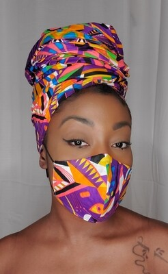 Color Me  (Headwrap and Mask Set)
