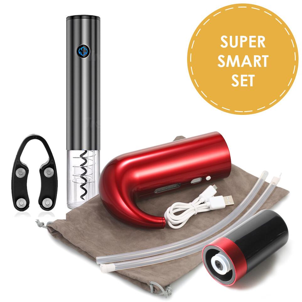 """""""SUPER SMART SET"""" (набор из электроаэратора, электроштопора и автоматической вакуумной пробки)"""