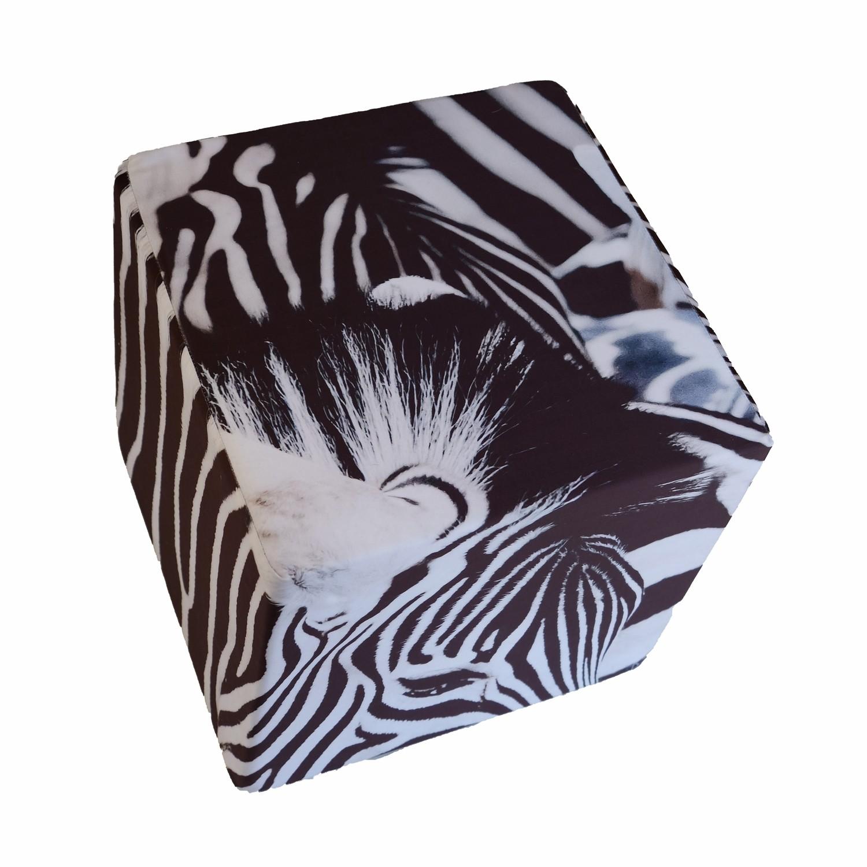 Cube en mousse déhoussable, Zèbres