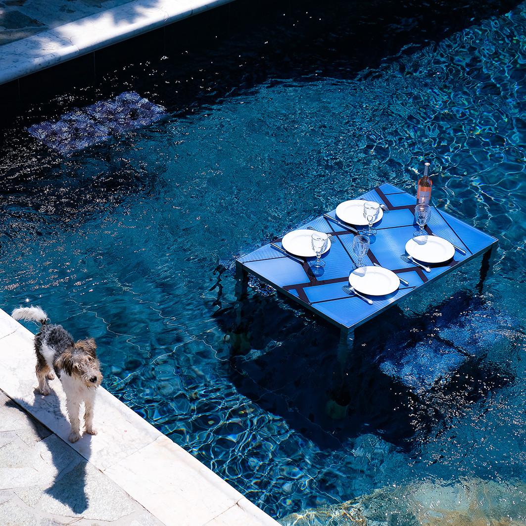 Table rectangle - Bleue