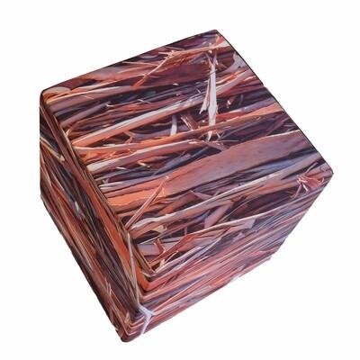Cube en mousse déhoussable, Eucalyptus