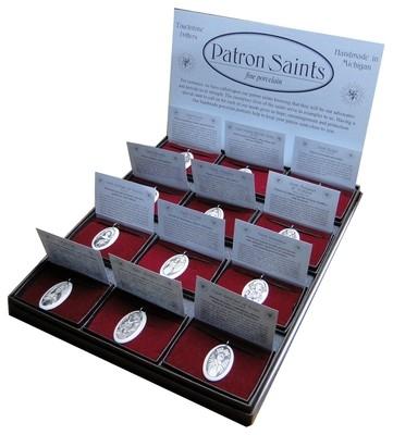 Patron Saint Porcelain Pendants Wholesale Starter Pack (12 Pendants)