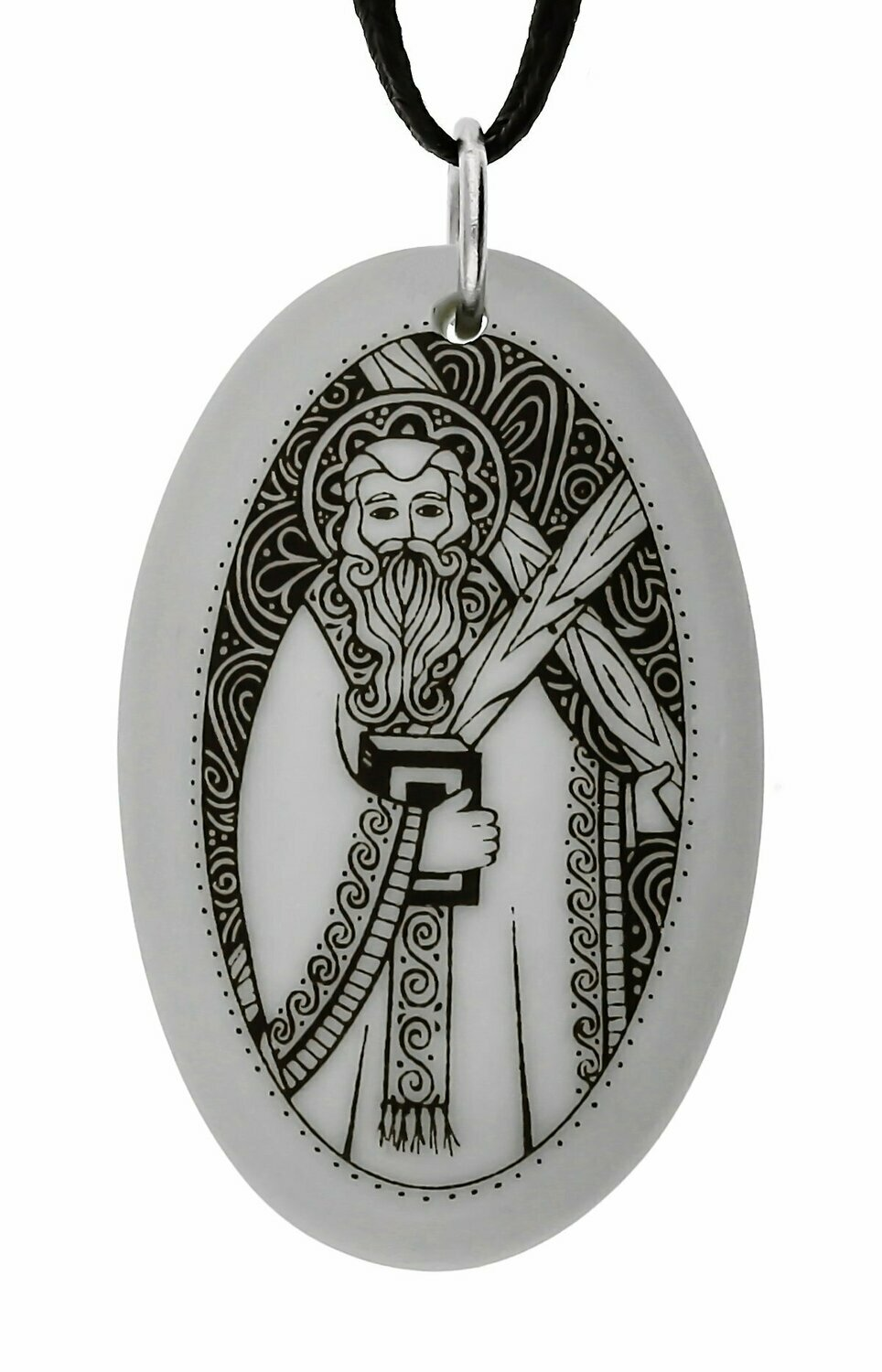 Saint Andrew the Apostle Oval Handmade Porcelain Pendant