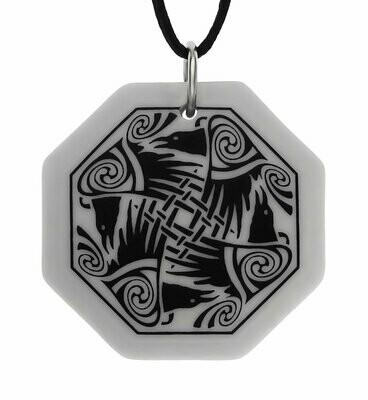 Celtic Nehalennia Octagon Handmade Porcelain Pendant