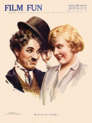 Note Card - Charlie Chaplin, Edna Purviance