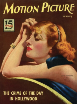 Note Card - Joan Crawford -Crime of the Day