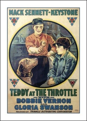 Note Card - Teddy At the Throttle