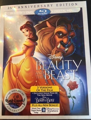 Disney's - Beauty and the Beast 25th Anniversary Edition - Blu Ray / DVD / HD Digital