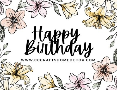 CC Crafts Gift card