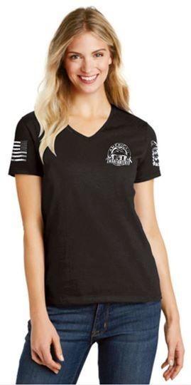 American Warfighters Ladies V-Neck T-Shirt