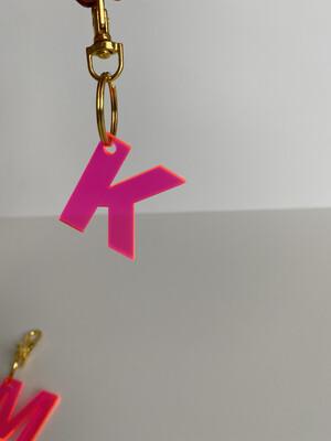 Acrylic Letter Keychain