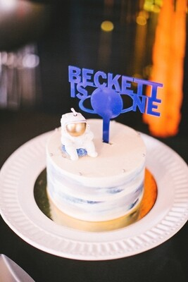 Space Theme Cake Topper