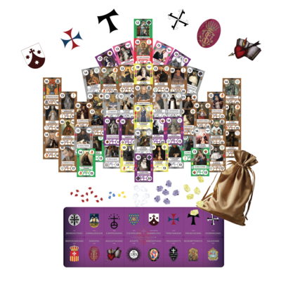 SaintCards: The Mendicant Orders Deluxe Expansion (w/Purple Game Mat)