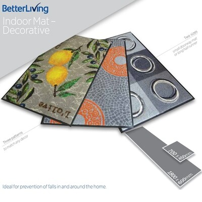 Non-Slip Indoor Mat - Patterned