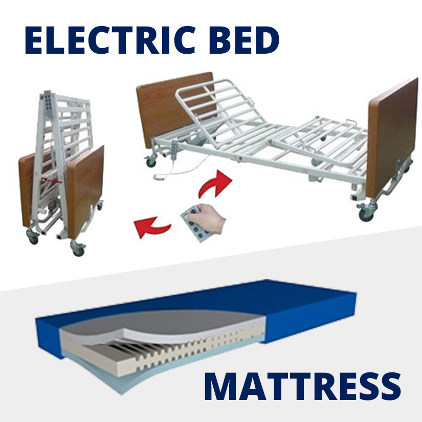 King Single Electric Bed + Mattress [Rental Per Week]