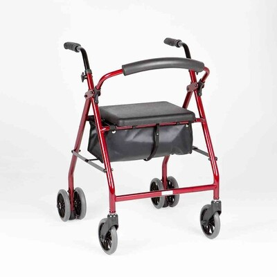 "Ellipse 6"" Push Down Rollator"