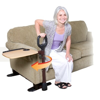Assist-A-Stand Sofa Handle With Tray