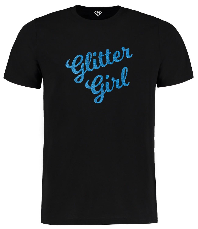 Glitter Girl Black Tee