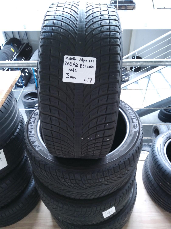 Michelin Alpin LA2 265/40 R21 105V M+S 3mm.mønster