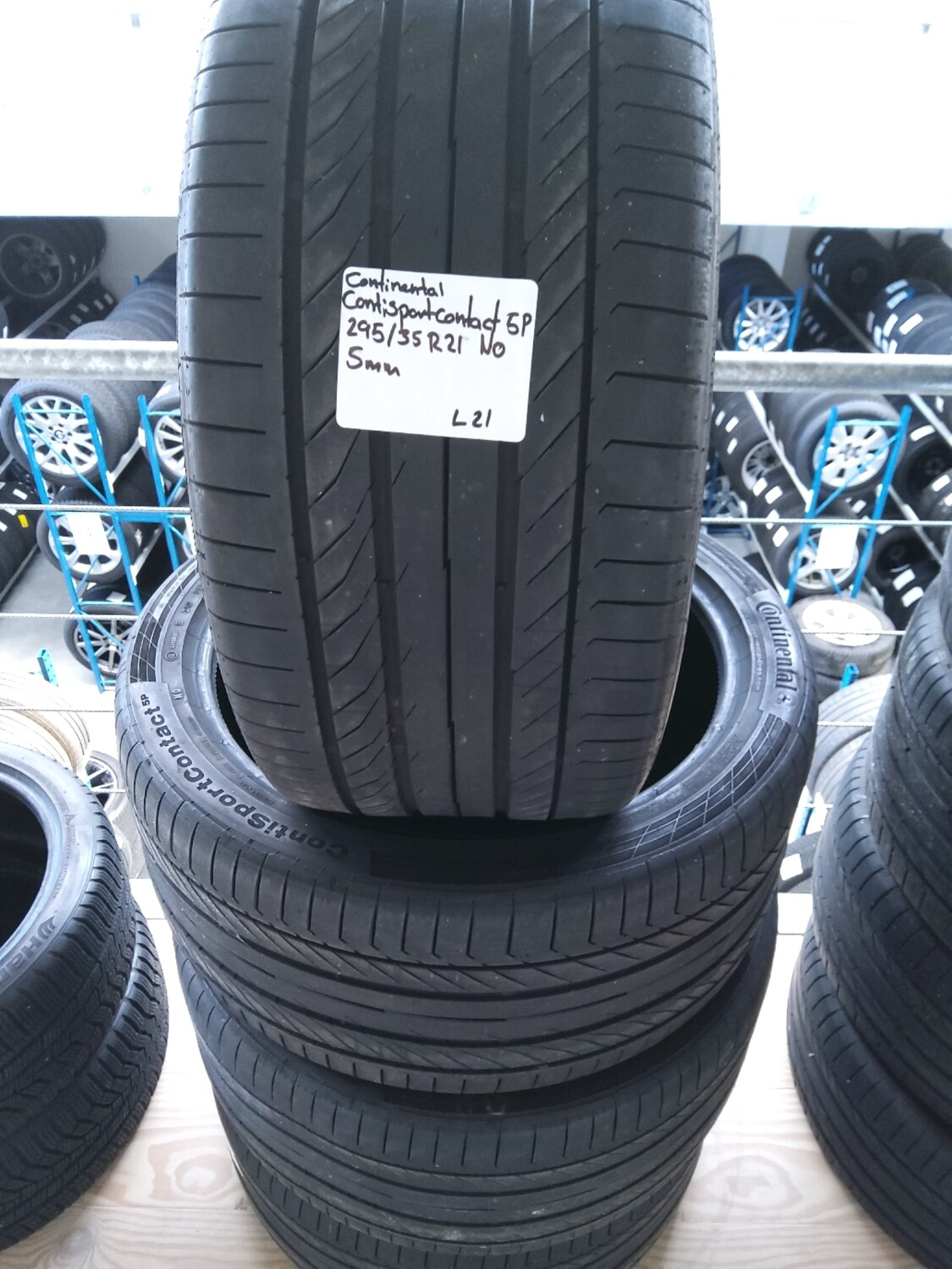 Continental ContiSportContact 5P 295/35 R21 NO 5mm.mønster