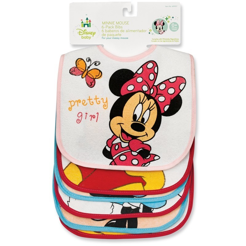 6 Pack of Disney Bibs Each Bib Different