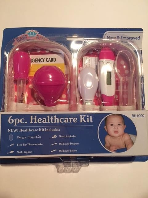 6 Piece Pink or Blue Healthcare Kit