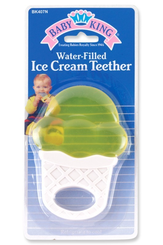 Baby King Water Filled Ice Cream Teether Rattle 2 Colors