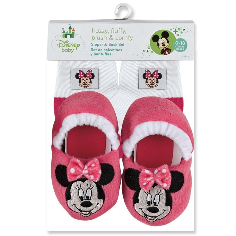 Disney Minnie Mouse Slipper and Socks Set