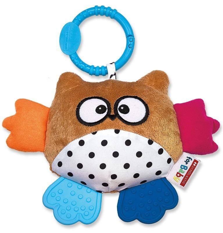Scholastic Owl Teether Choose Pink or Brown Owl