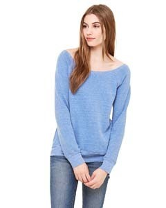 Bella + Canvas Ladies' Sponge Fleece Wide Neck Sweatshirt