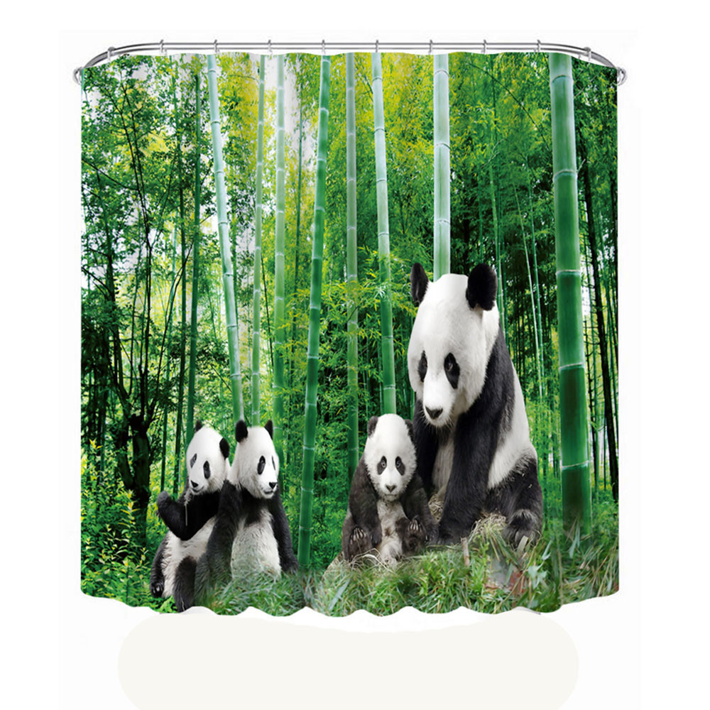 Printing Waterproof Personality Fabric Bathroom Shower Curtain