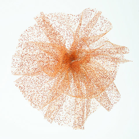 Glitter Tulle: Orange, 6 inches x 10 yards