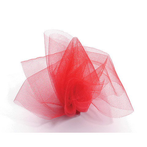 Tulle Netting - Red - 6 inches x 25 yards