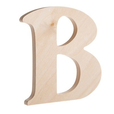 7.25 inch Unfinished Wood Fancy Letter B