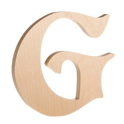 7.25 inch Unfinished Wood Fancy Letter G