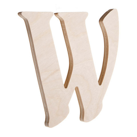 7.25 inch Unfinished Wood Fancy Letter W