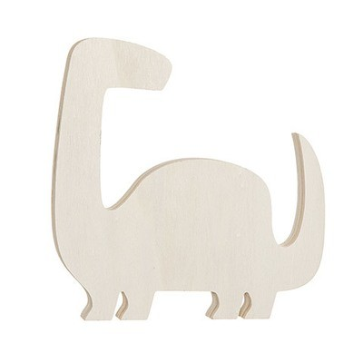 Brontosaurus Standing Wood Shape: 6.5 x 6.5 inches