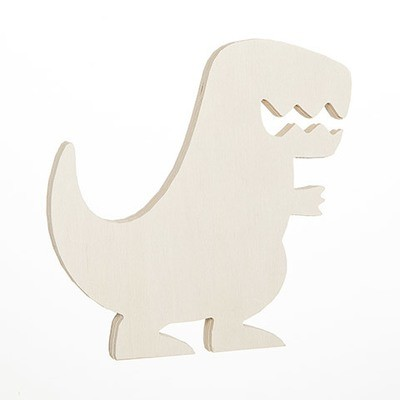 T-Rex Standing Wood Shape: 6.25 x 6.5 inches
